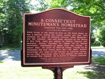 A Connecticut Minuteman�s Homestead Marker Photo, Click for full size