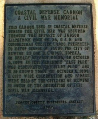 Coastal Defense Cannon Marker Photo, Click for full size