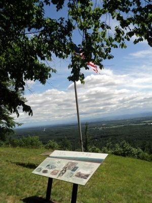 Marker on Mt. McGregor Photo, Click for full size