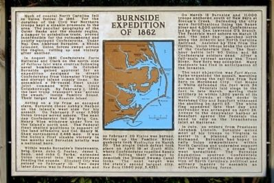 Burnside Expedition of 1862 Marker image. Click for full size.