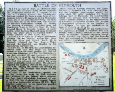 Battle of Plymouth Marker Photo, Click for full size