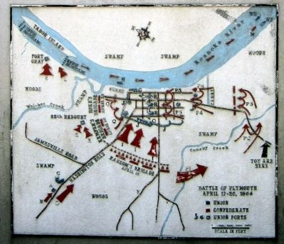 Battle of Plymouth Map Photo, Click for full size