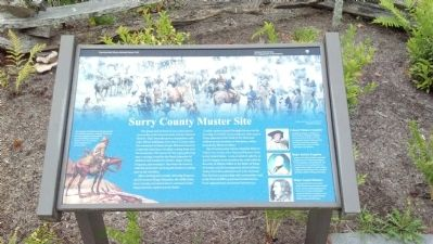Surry County Muster Site Marker image. Click for full size.