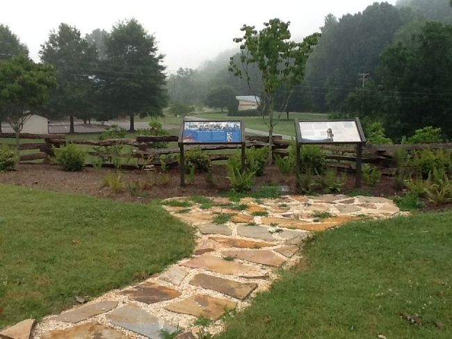 Surry County Muster Site Marker (on left) image. Click for full size.