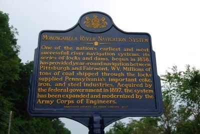 Monongahela River Navigation System Marker Photo, Click for full size