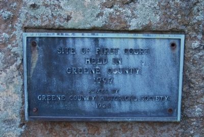 Site of First Court in Greene County Marker image. Click for full size.