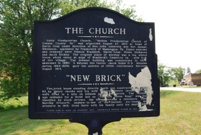 "The Church - ""New Brick"" Marker image. Click for full size."