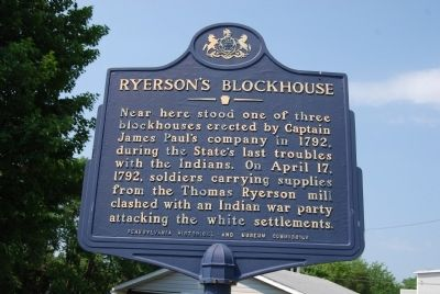Ryerson's Blockhouse Marker image. Click for full size.