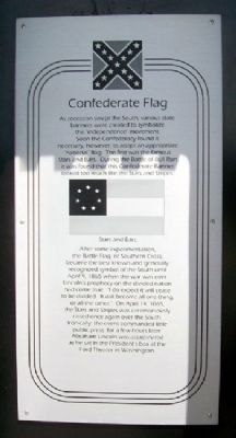 Confederate Flag Marker image. Click for full size.