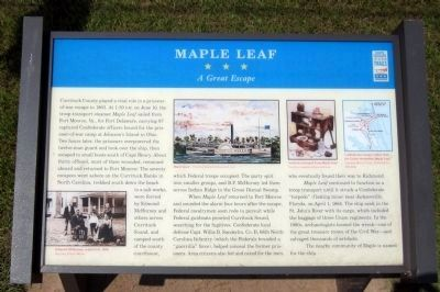 Maple Leaf CWT Marker image. Click for full size.