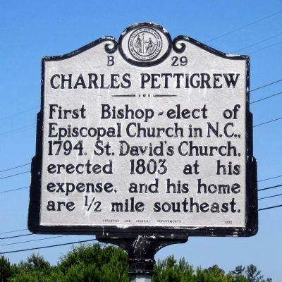 Charles Pettigrew Marker image. Click for full size.