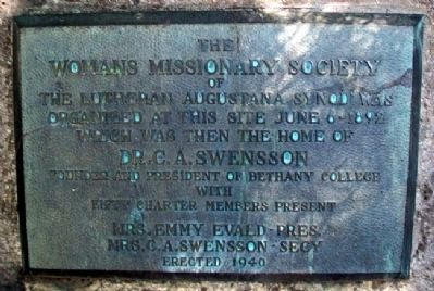 Womans Missionary Society Marker image. Click for full size.