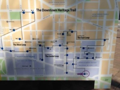 Map of the Downtown Heritage Trail System Photo, Click for full size
