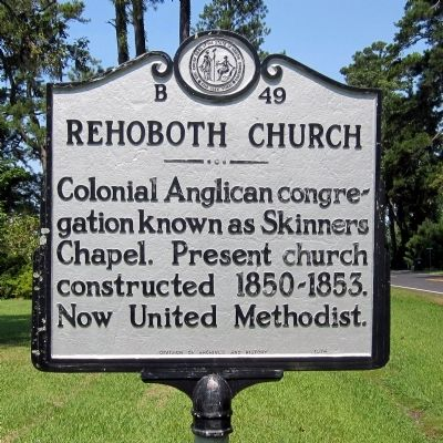 Rehoboth Church Marker image. Click for full size.