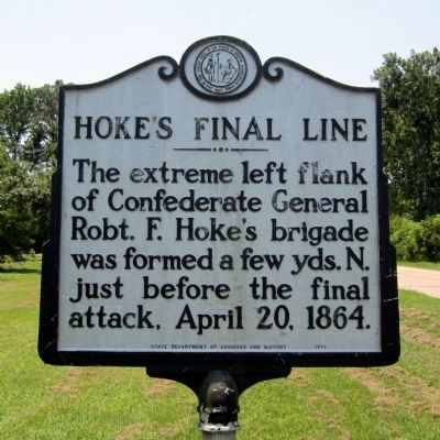 Hoke's Final Line Marker image. Click for full size.