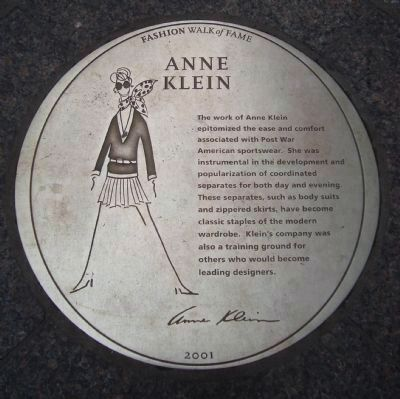 Anne Klein Marker image. Click for full size.