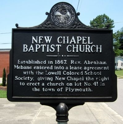 New Chapel Baptist Church Marker image. Click for full size.