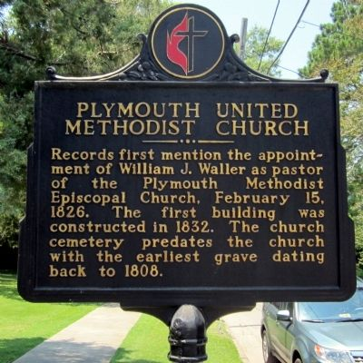 Plymouth United Methodist Church Marker image. Click for full size.