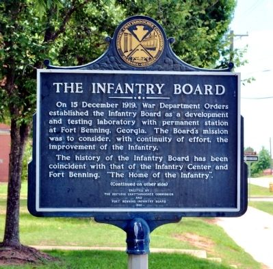 The Infantry Board Marker, Side 1 image. Click for full size.