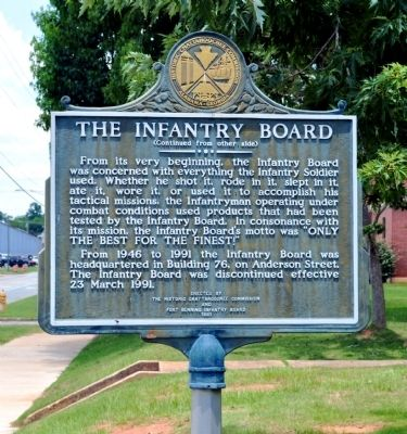 The Infantry Board Marker, Side 2 image. Click for full size.