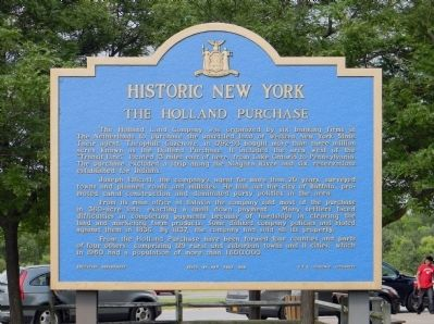 The Holland Purchase Marker Photo, Click for full size