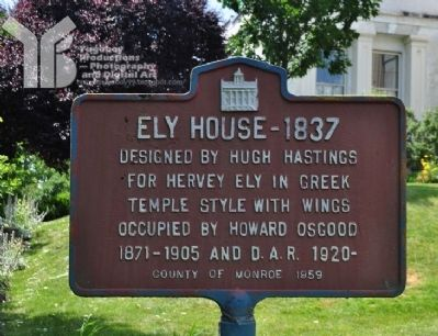 Ely House - 1837 Marker Photo, Click for full size