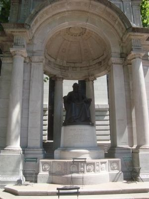 William Cullen Bryant Memorial by Herbert Adams image. Click for full size.