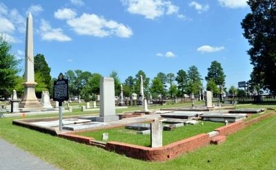 Brigadier General Henry Lewis Benning Marker and the Benning Family Plot Photo, Click for full size