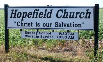 Hopefield Mennonite Church Sign image. Click for full size.