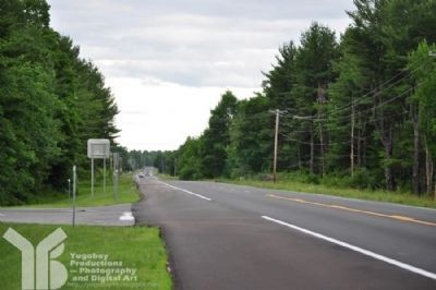 NYS Rte 3 facing east from marker's rest area image. Click for full size.