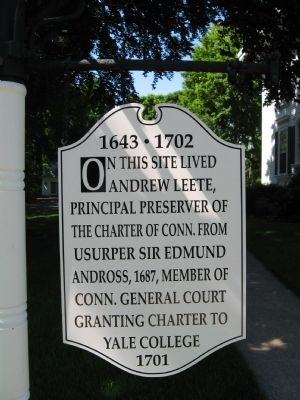 Andrew Leete Home Site Marker Photo, Click for full size