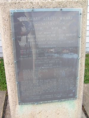 Delaware Street Wharf Reconstruction Marker image. Click for full size.