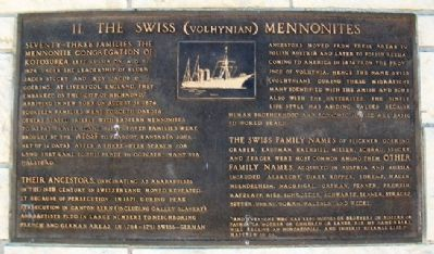 The Swiss (Yolynian) Mennonites Marker image. Click for full size.