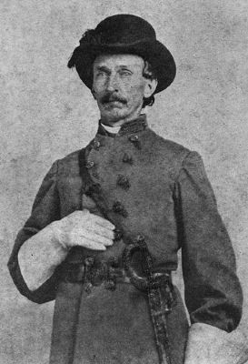 Portrait of Confederate Captain John Jackson Dickison, taken in 1864. image. Click for full size.
