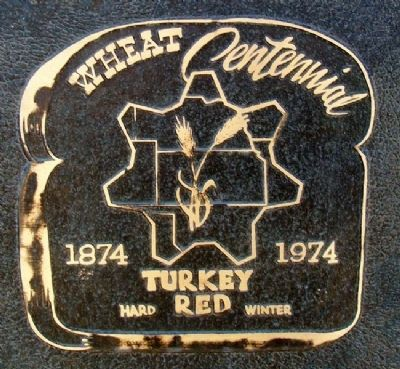 Turkey Red Wheat Centennial Logo on Marker image. Click for full size.