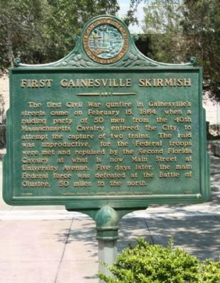 First Gainesville Skirmish Marker image. Click for full size.
