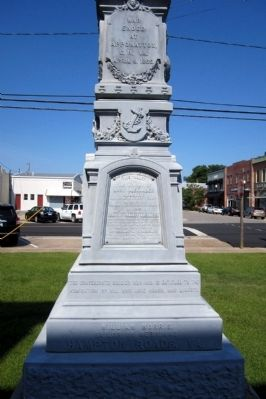 Tyrrell County Confederate Monument (side 4) image. Click for full size.
