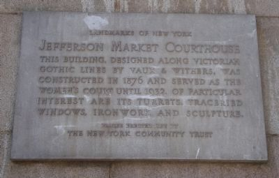 Jefferson Market Courthouse Marker image. Click for full size.