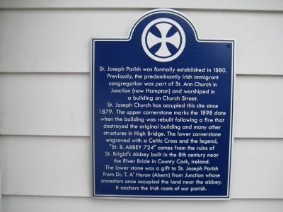 St. Joseph Parish Marker image. Click for full size.