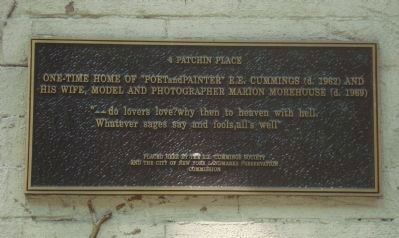 4 Patchin Place Marker Photo, Click for full size