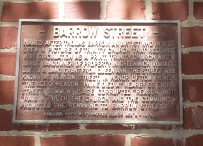 Barrow Street Marker image. Click for full size.