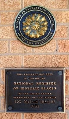 Fox-Watson Theatre NRHP Marker image. Click for full size.