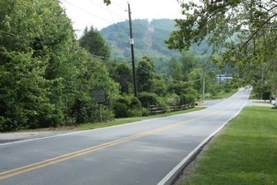 William Moore Marker, seen looking southbound, on Sand Hill Road (Route 3412) image. Click for full size.