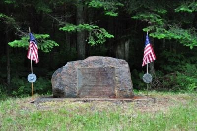 The Site of Camp S-60 Marker (Complete Monument) Photo, Click for full size