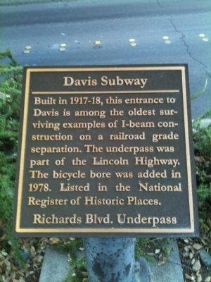 Davis Subway Marker image. Click for full size.