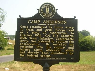 Camp Anderson Marker image. Click for full size.