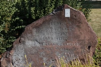 La Baye Burial Place Marker Photo, Click for full size