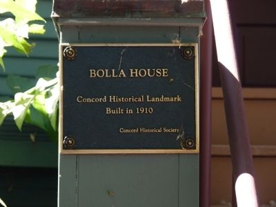 Bolla House Marker Photo, Click for full size