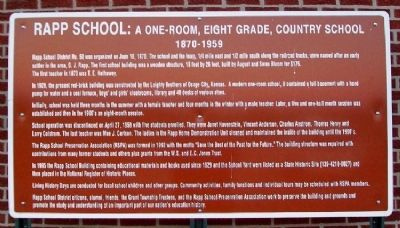 Rapp School Marker image. Click for full size.