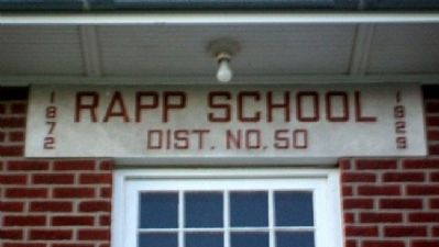 Rapp School Name Lintel image. Click for full size.